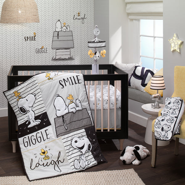 Classic Snoopy Fitted Crib Sheet by Lambs & Ivy