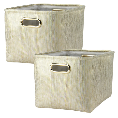 Metallic Gold Storage Basket - 2 Pack by Lambs & Ivy