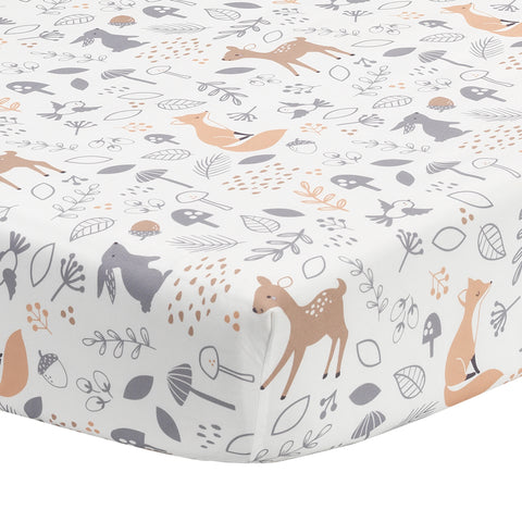 Deer Park Fitted Crib Sheet by Bedtime Originals