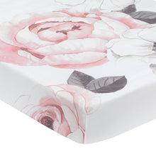 Floral Garden Cotton Fitted Crib Sheet by Lambs & Ivy