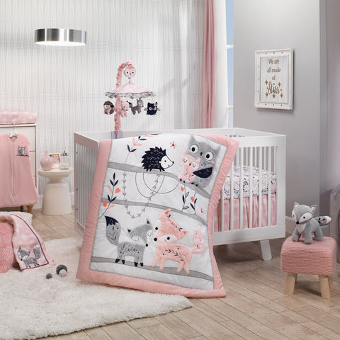 Forever Friends 4-Piece Nursery Crib Baby Bedding Set by Lambs & Ivy