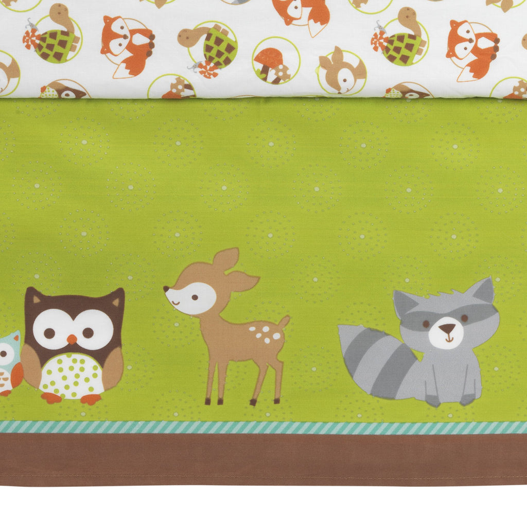 Friendly Forest White Brown Green Woodland Animals Amp Trees