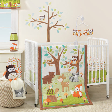 Friendly Forest 3-Piece Crib Bedding Set - Lambs & Ivy