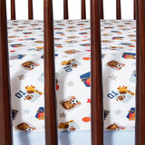 Future All Star Cotton Fitted Crib Sheet - Lambs & Ivy
