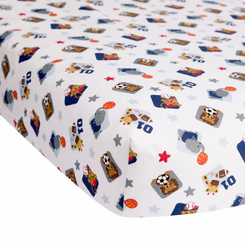 Future All Star Cotton Fitted Crib Sheet by Lambs & Ivy