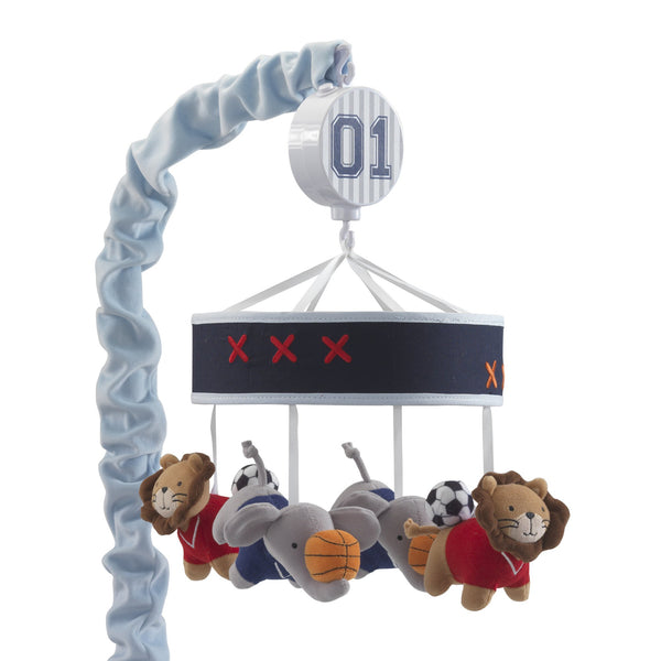 Future All Star Musical Baby Crib Mobile - Lambs & Ivy