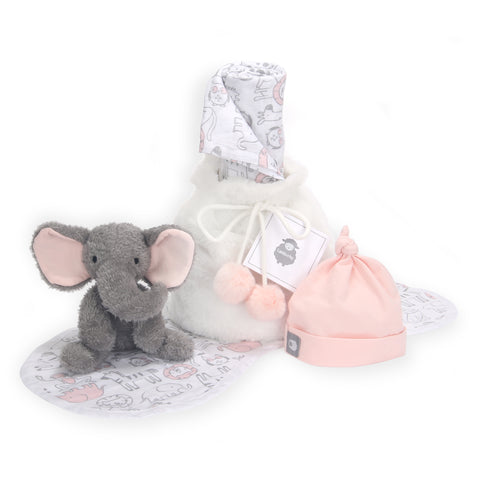 5 Piece Pink/Gray Baby Gift Set - Lambs & Ivy