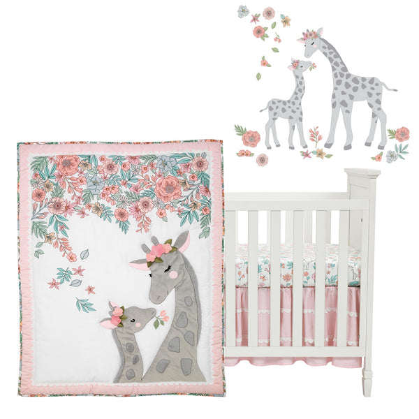 Giraffe and a Half 4-Piece Crib Bedding Set by Lambs & Ivy