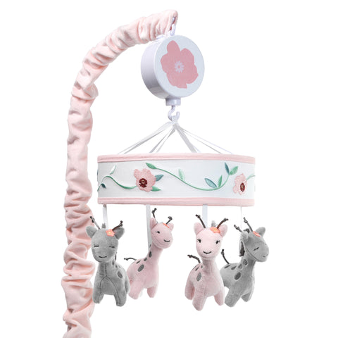 Giraffe and a Half Musical Baby Crib Mobile by Lambs & Ivy