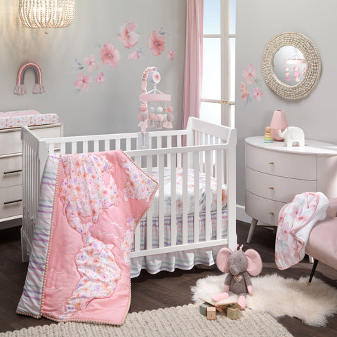 Girls Rule the World 4-Piece Crib Bedding Set by Lambs & Ivy