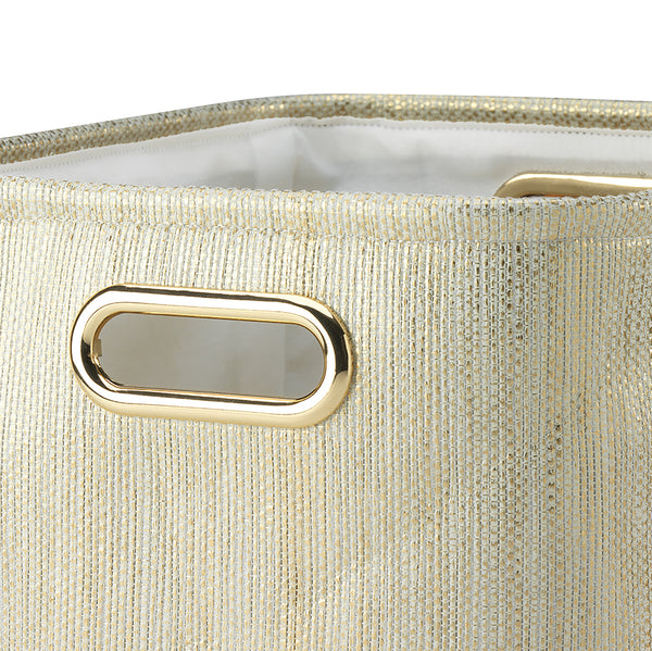 Metallic Gold Storage Basket - 2 Pack - Lambs & Ivy