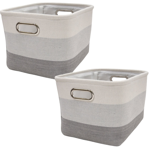 Gray Ombre Storage Basket - 2 Pack - Lambs & Ivy