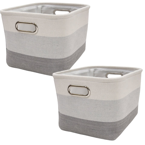 Gray Ombre Storage Basket - 2 Pack by Lambs & Ivy