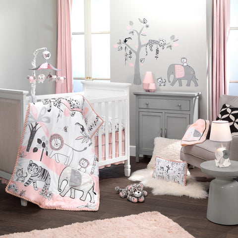 Happy Jungle 5-Piece Crib Bedding Set by Lambs & Ivy