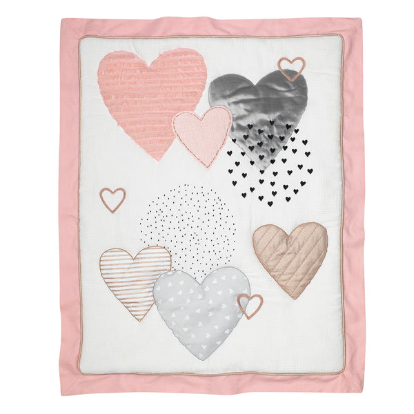 Signature Heart to Heart 4-Piece Crib Bedding Set by Lambs & Ivy