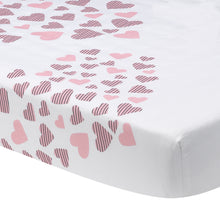 Heart to Heart Fitted Crib Sheet by Lambs & Ivy