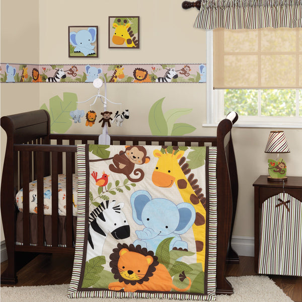 Jungle Buddies 3-Piece Crib Bedding Set - Lambs & Ivy