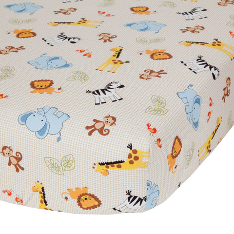 Jungle Buddies Fitted Crib Sheet by Bedtime Originals