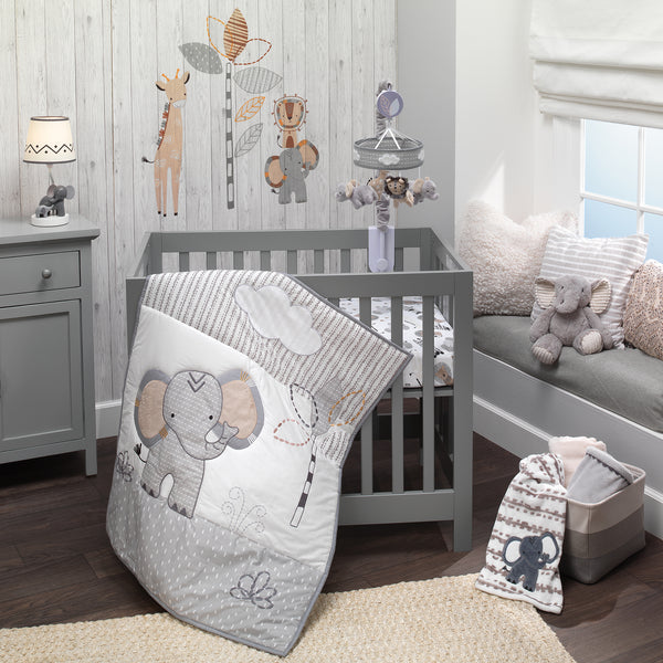 Jungle Safari 3-Piece Mini Crib Bedding Set by Lambs & Ivy