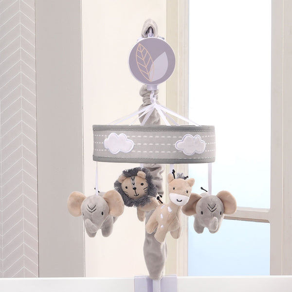 Jungle Safari Musical Baby Crib Mobile - Lambs & Ivy