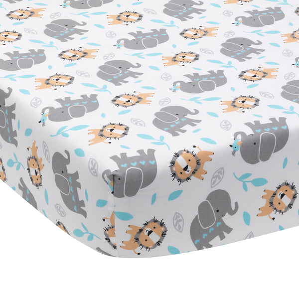 Jungle Fun Fitted Crib Sheet by Bedtime Originals