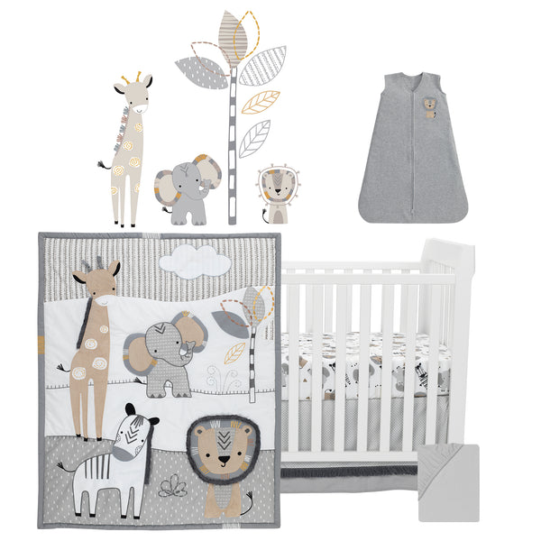 Jungle Safari 6-Piece Baby Crib Bedding Set - Lambs & Ivy