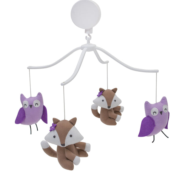 Lavender Woods Musical Baby Crib Mobile - Lambs & Ivy