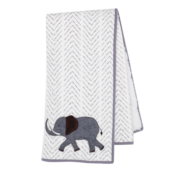 Linen Safari Baby Blanket by Lambs & Ivy