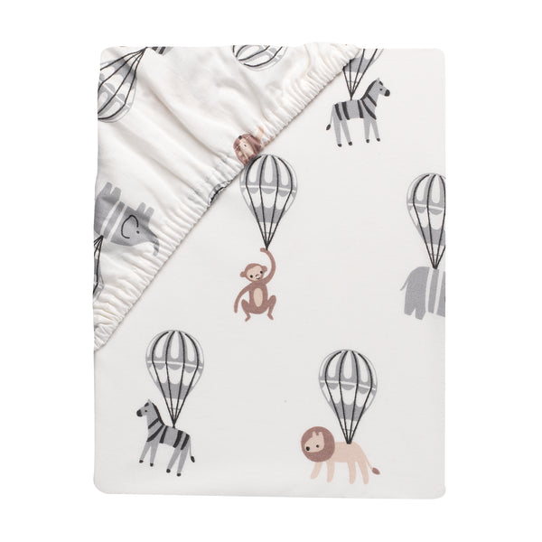 Linen Safari Cotton Fitted Crib Sheet by Lambs & Ivy