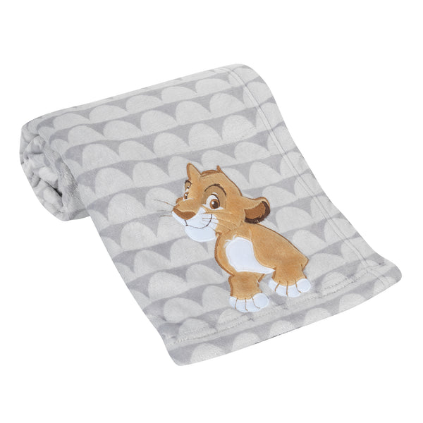 THE LION KING Appliqued Baby Blanket by Lambs & Ivy