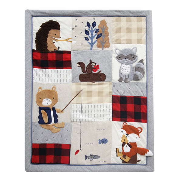 Little Campers 5-Piece Crib Bedding Set - Lambs & Ivy