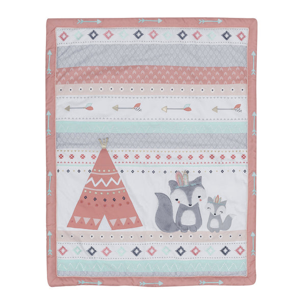 Little Spirit 3-Piece Crib Bedding Set - Lambs & Ivy