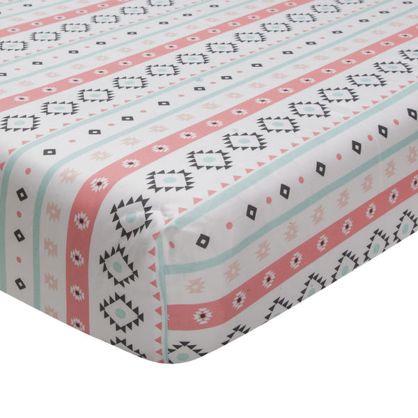 Little Spirit Cotton Fitted Crib Sheet by Lambs & Ivy