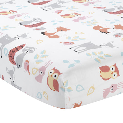 Little Woodland Cotton Fitted Crib Sheet by Lambs & Ivy