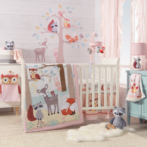 Little Woodland 4-Piece Crib Bedding Set by Lambs & Ivy