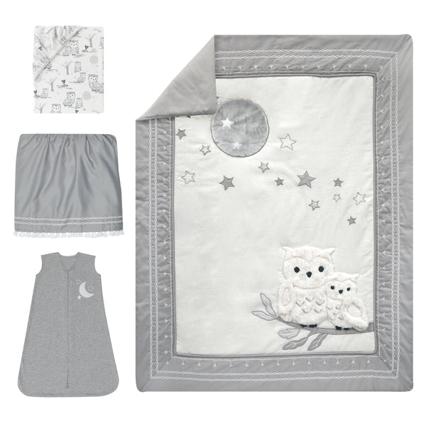 Luna 4-Piece Crib Bedding Set by Lambs & Ivy