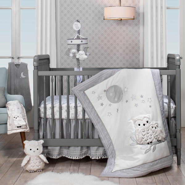 Luna 4-Piece Crib Bedding Set - Lambs & Ivy