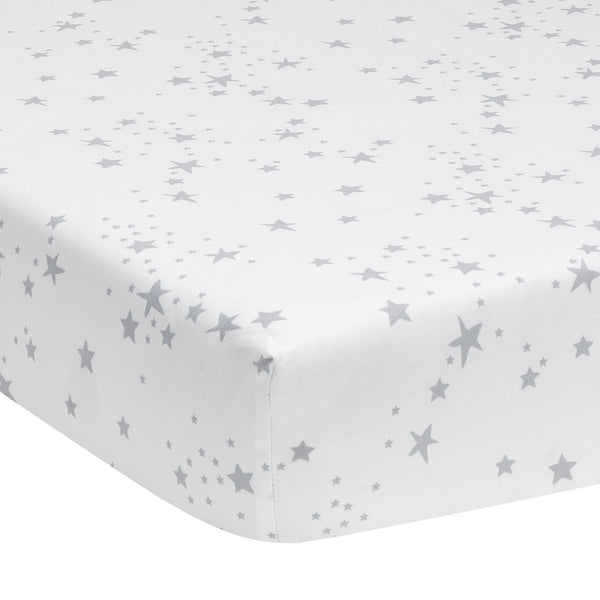 Luna Cotton Fitted Crib Sheet - Lambs & Ivy