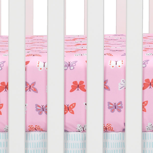 Magic Garden Fitted Crib Sheet - Lambs & Ivy
