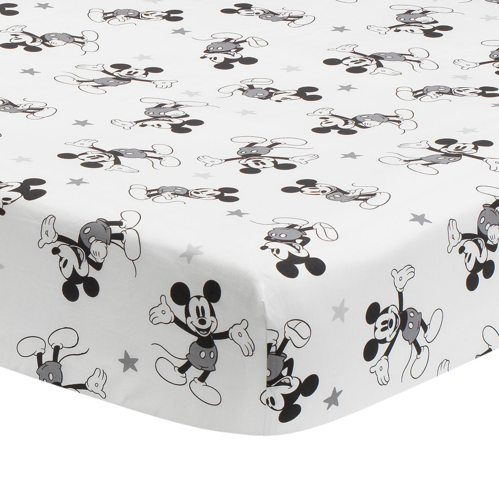 Disney Baby Magical Mickey Mouse 100 Cotton Fitted Crib Sheet Wh