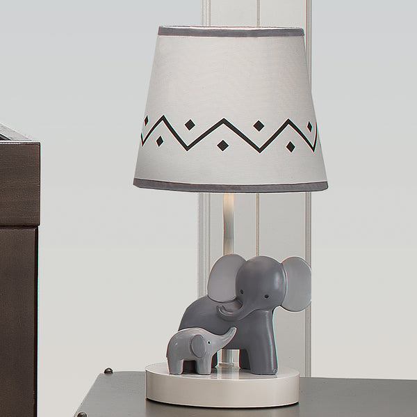 Me & Mama Nursery Lamp with Shade & Bulb by Lambs & Ivy
