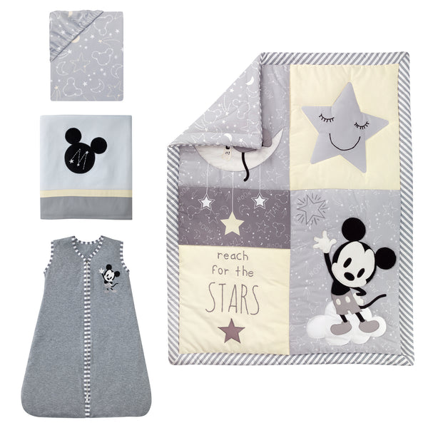 Mickey Mouse 4-Piece Crib Bedding Set - Lambs & Ivy