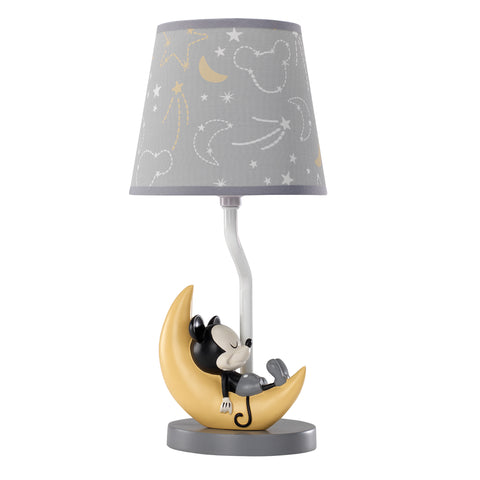 Mickey Mouse Lamp with Shade & Bulb - Lambs & Ivy