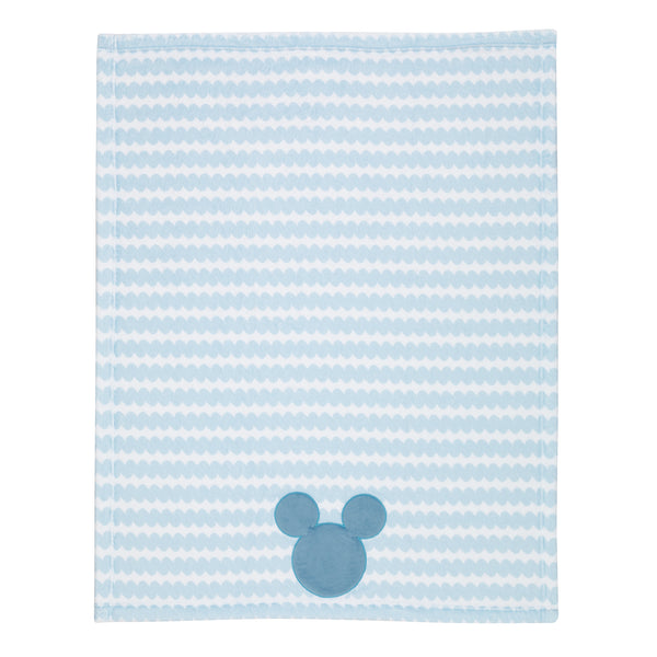 MICKEY MOUSE Appliqued Baby Blanket - Lambs & Ivy