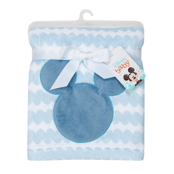 MICKEY MOUSE Appliqued Baby Blanket by Lambs & Ivy