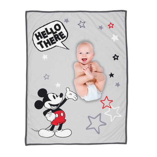 MICKEY MOUSE Picture Perfect Baby Blanket - Lambs & Ivy