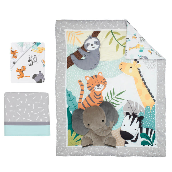 Mighty Jungle 3-Piece Crib Bedding Set by Bedtime Originals