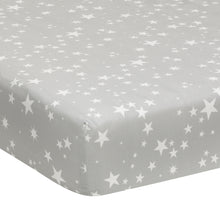 Milky Way Fitted 100% Cotton Star Crib Sheet - Lambs & Ivy