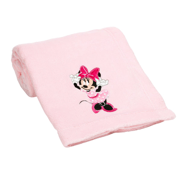 Minnie Mouse Love Baby Blanket by Lambs & Ivy