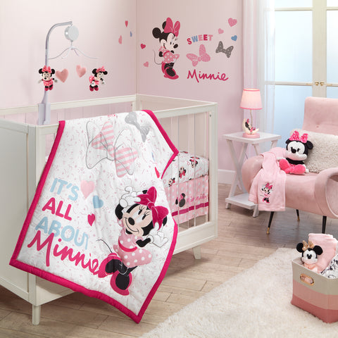 Minnie Mouse Love 3-Piece Crib Bedding Set by Lambs & Ivy